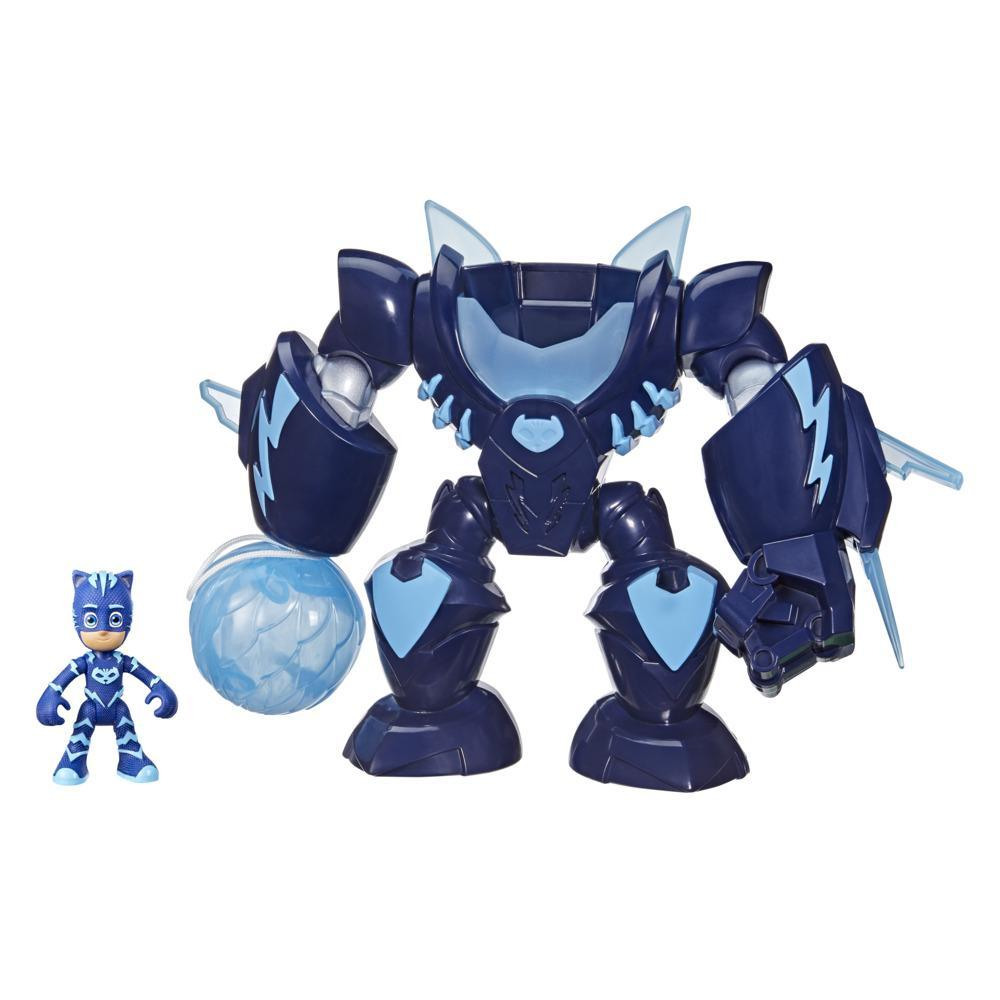PJ Masks Robo-Catboy Preschool Toy with Lights and Sounds for Kids Ages 3 and Up, Includes Catboy Action Figure