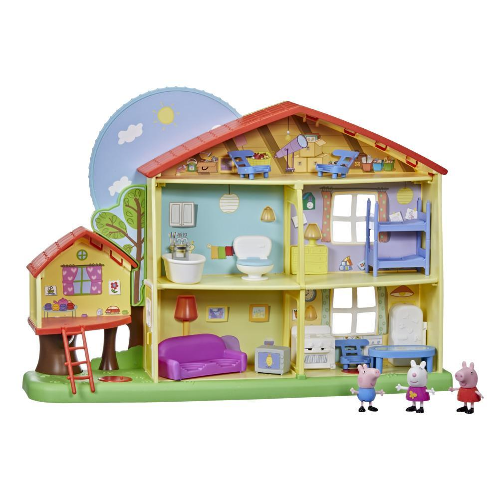 Peppa Pig Peppa's Adventures Peppa's Playtime to Bedtime House Preschool Toy, Speech, Light, and Sounds, Ages 3 and Up