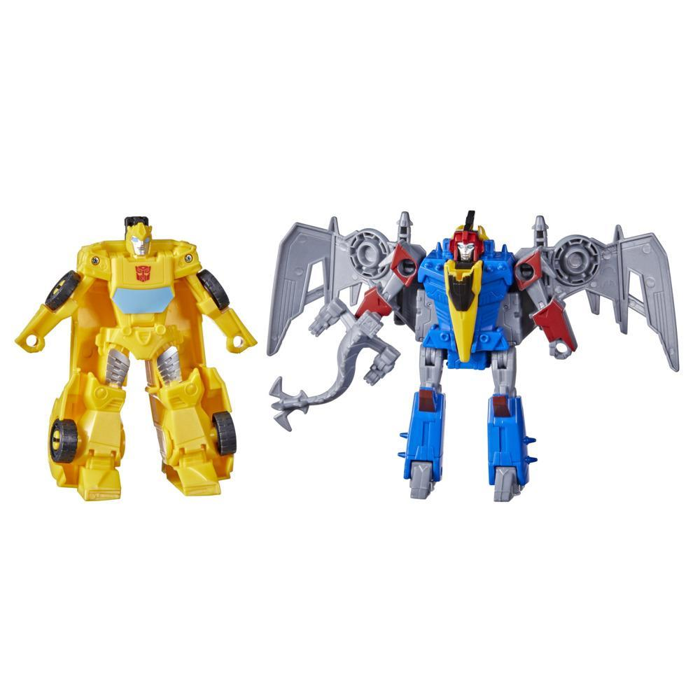 Transformers Bumblebee Cyberverse Adventures Dinobots Unite Dino Combiners Bumbleswoop Figures, Ages 6 and Up, 4.5-inch