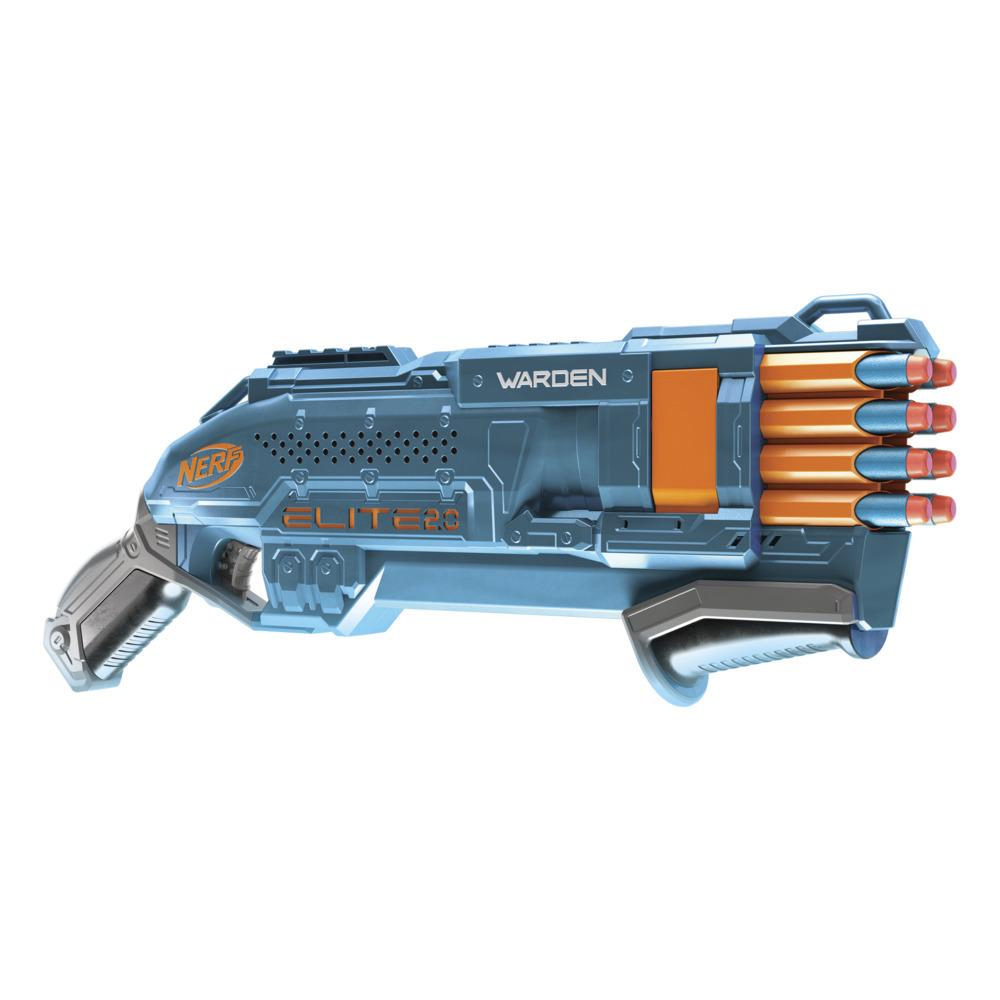 Nerf Elite 2.0 Warden DB-8 Blaster, 16 Official Nerf Darts, Blast 2 Darts At Once, Tactical Rail, Slam Fire