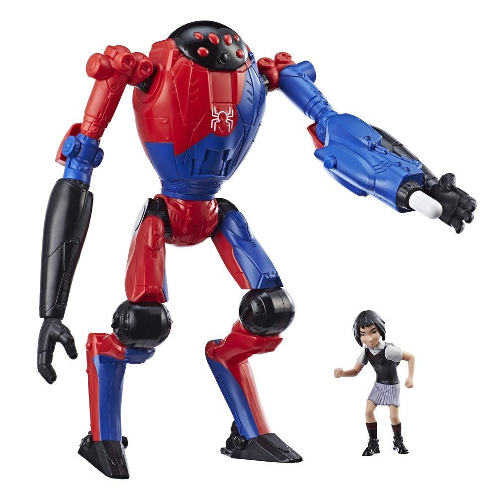 Spider-Man: Into the Spider-Verse SP//dr and Peni Parker 6-Inch-Scale Super Hero Figure Toy