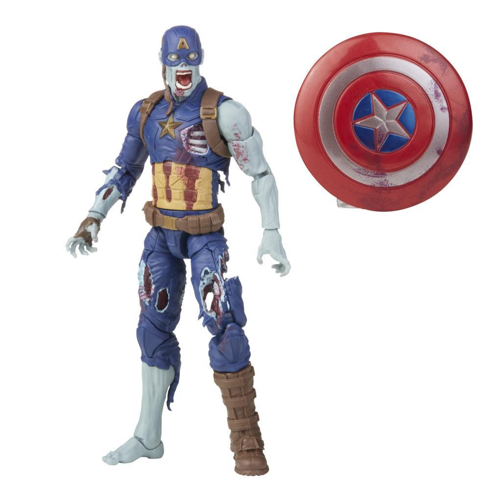 Marvel Legends Series 6-inch Scale Action Figure Toy Zombie Captain America, Includes Premium Design and 1 Accessory
