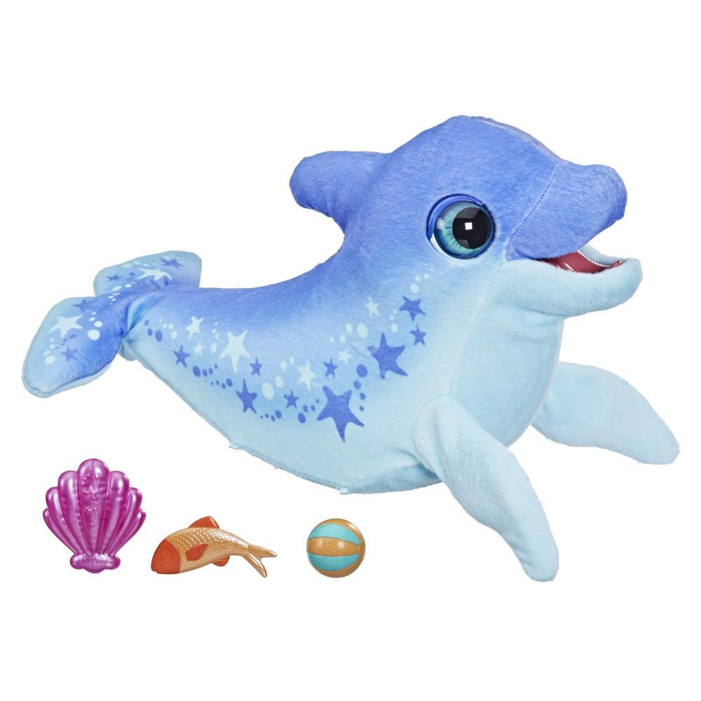 furReal Dazzlin' Dimples My Playful Dolphin, 80+ Sounds and Reactions, Interactive Toy Electronic Pet, Ages 4 and Up