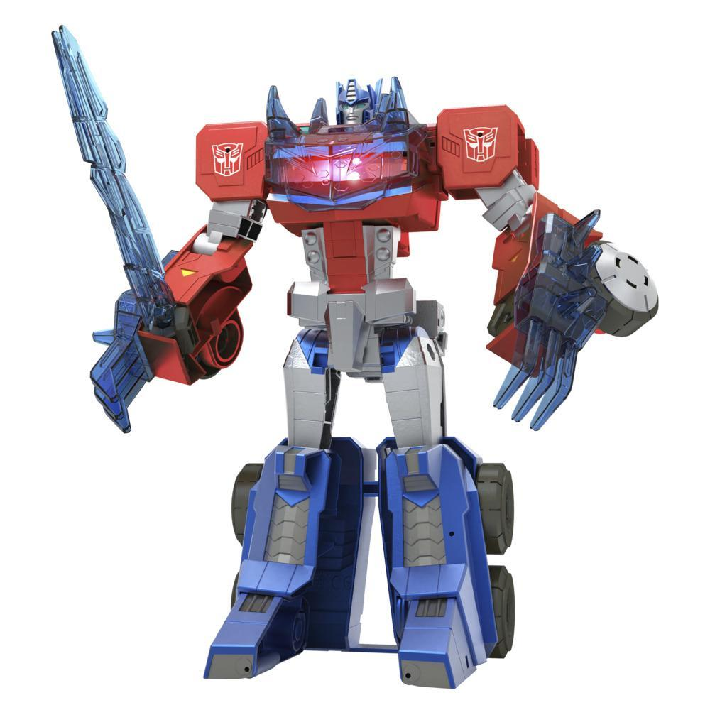 Transformers Toys Bumblebee Cyberverse Adventures Dinobots Unite Roll N' Change Optimus Prime Action Figure, 6 and Up, 10-inch