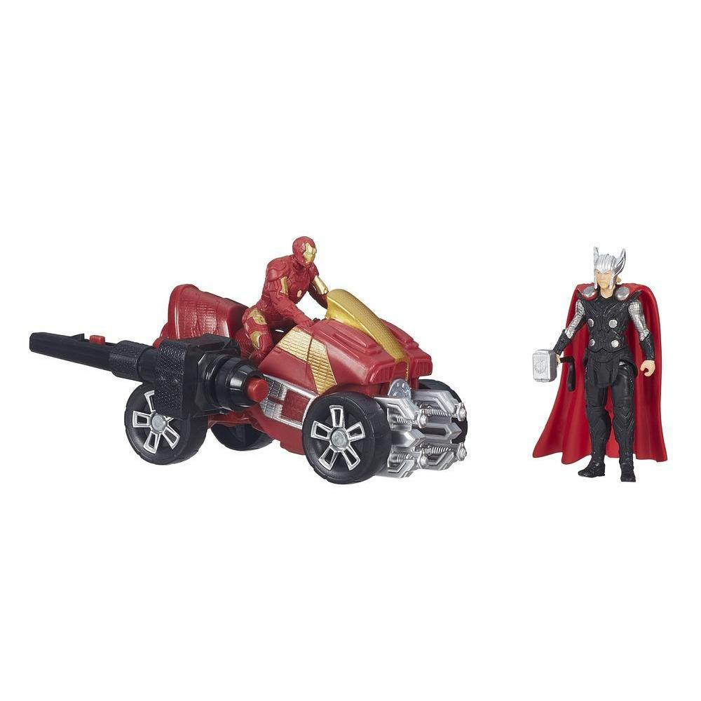 Marvel Avengers Age of Ultron Thor and Iron Man Figures with Arc ATV Vehicle