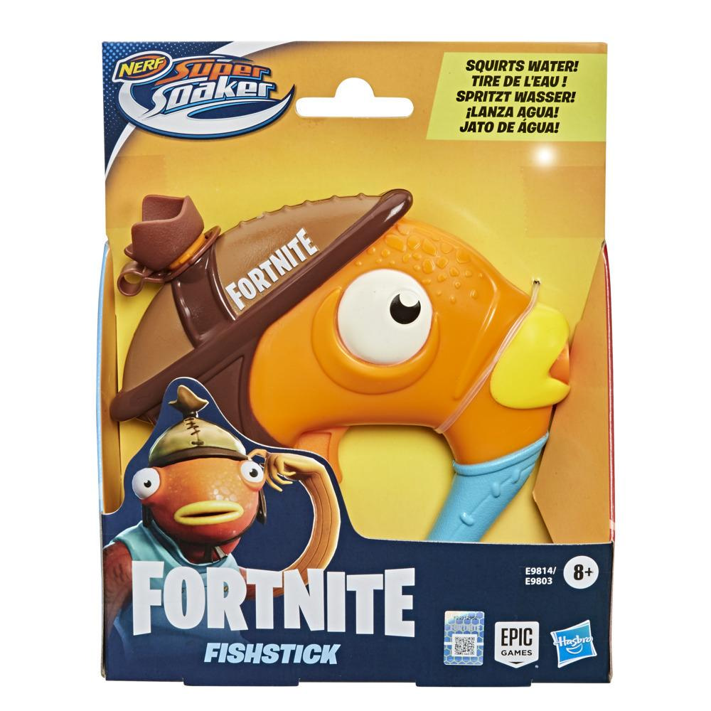 Nerf Super Soaker Fortnite Fishstick Water Blaster -- Fortnite Fishstick Character Design -- Easy-To-Carry Micro Size