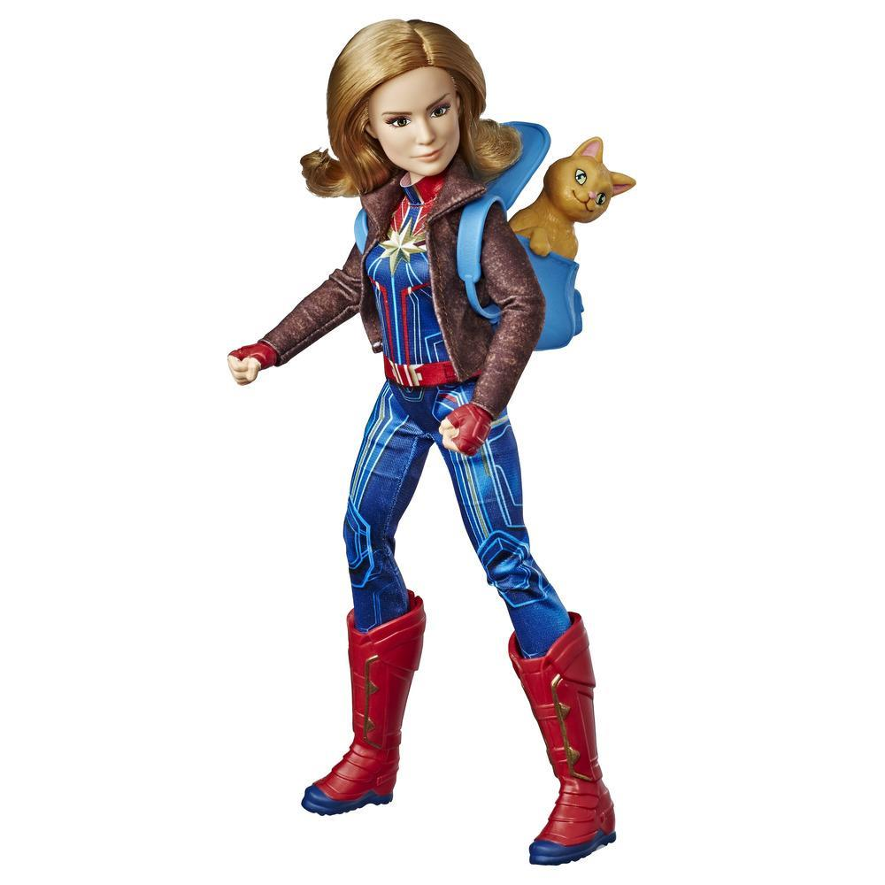 Marvel Captain Marvel Movie Captain Marvel Super Hero Doll & Marvel's Goose the Cat (Ages 6 and up)