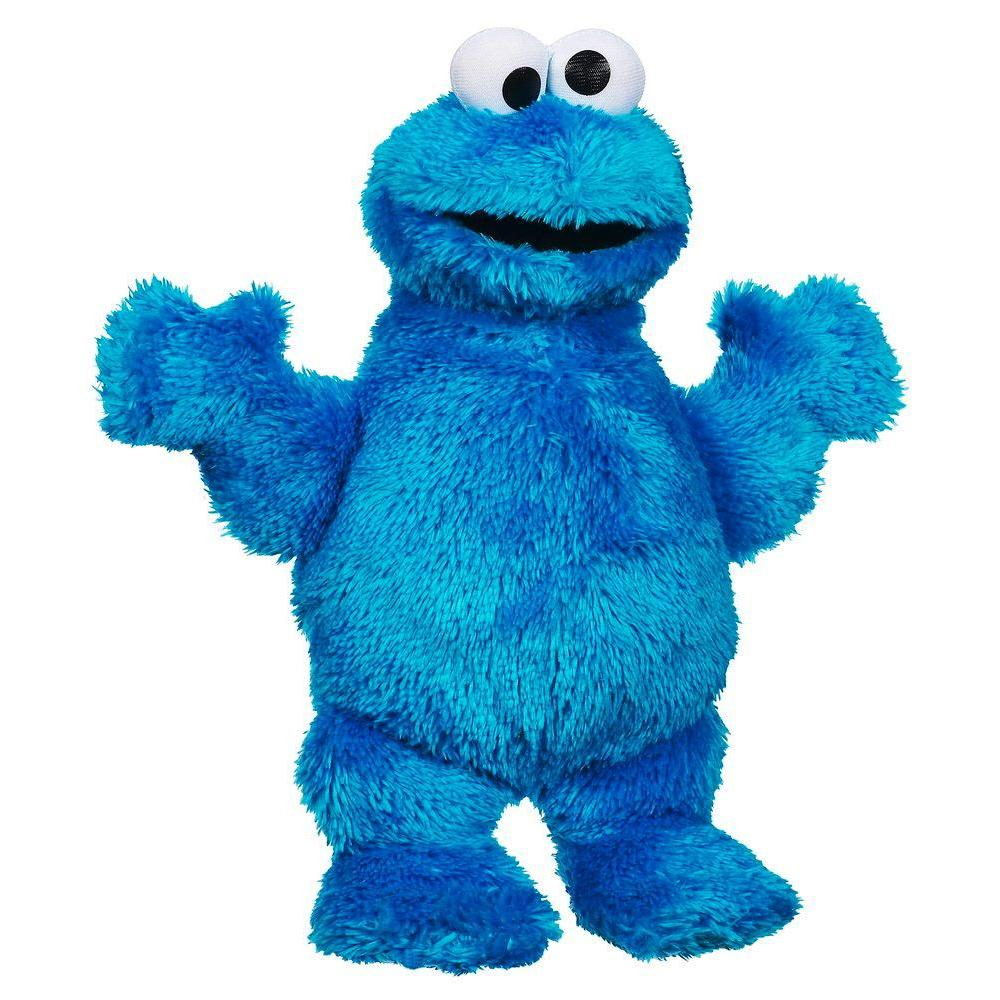 Playskool Sesame Street  Let'S Cuddle Cookie Monster Plush Figure