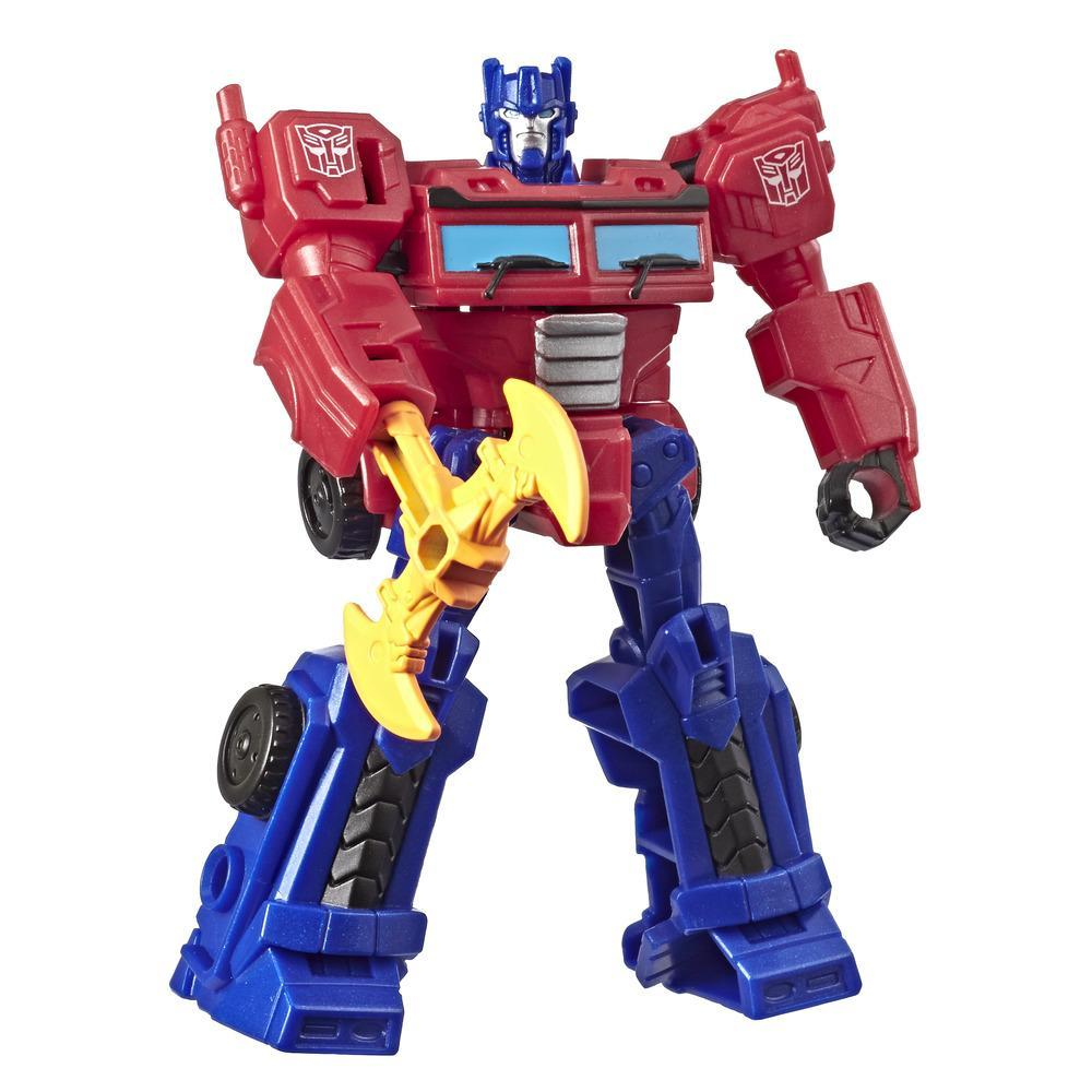 Transformers Toys Cyberverse Action Attackers Scout Class Optimus Prime Action Figure