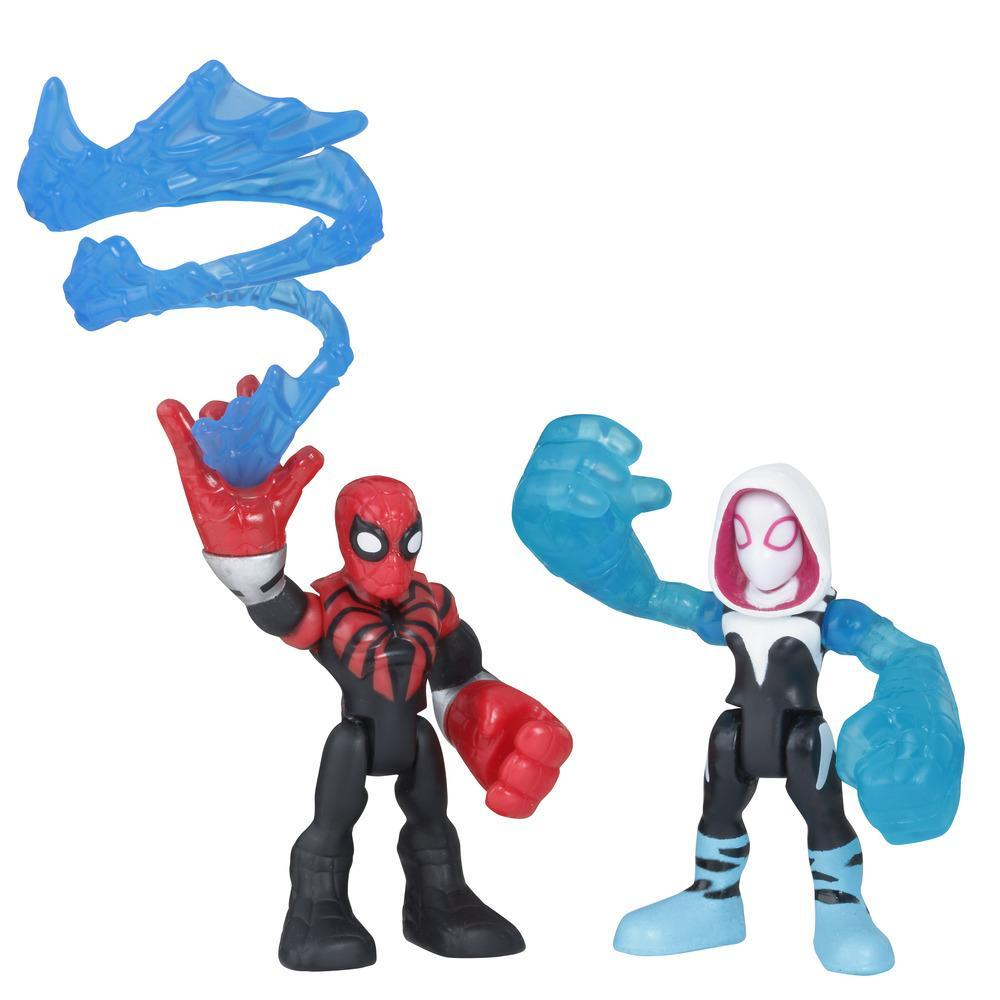 Playskool Heroes Marvel Super Hero Adventures 2-Pack, Collectible 2.5-Inch Spider-Man and Spider Gwen Action Figures