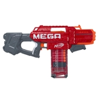 Nerf Mega Motostryke Motorized 10-Dart Blaster, 10 Official Nerf Mega Darts, 10-Dart Clip -- For Kids, Teens, Adults