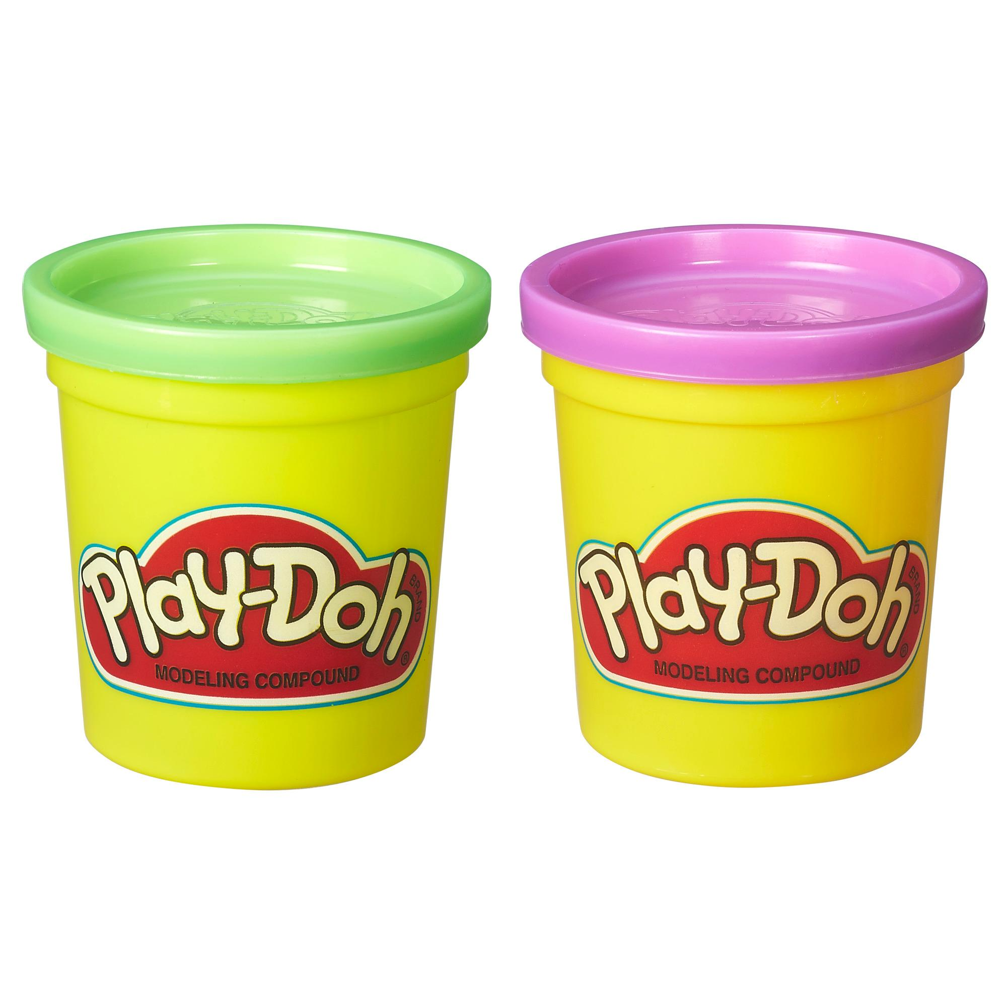 Play-Doh 2-Pack of Cans: Purple and Green