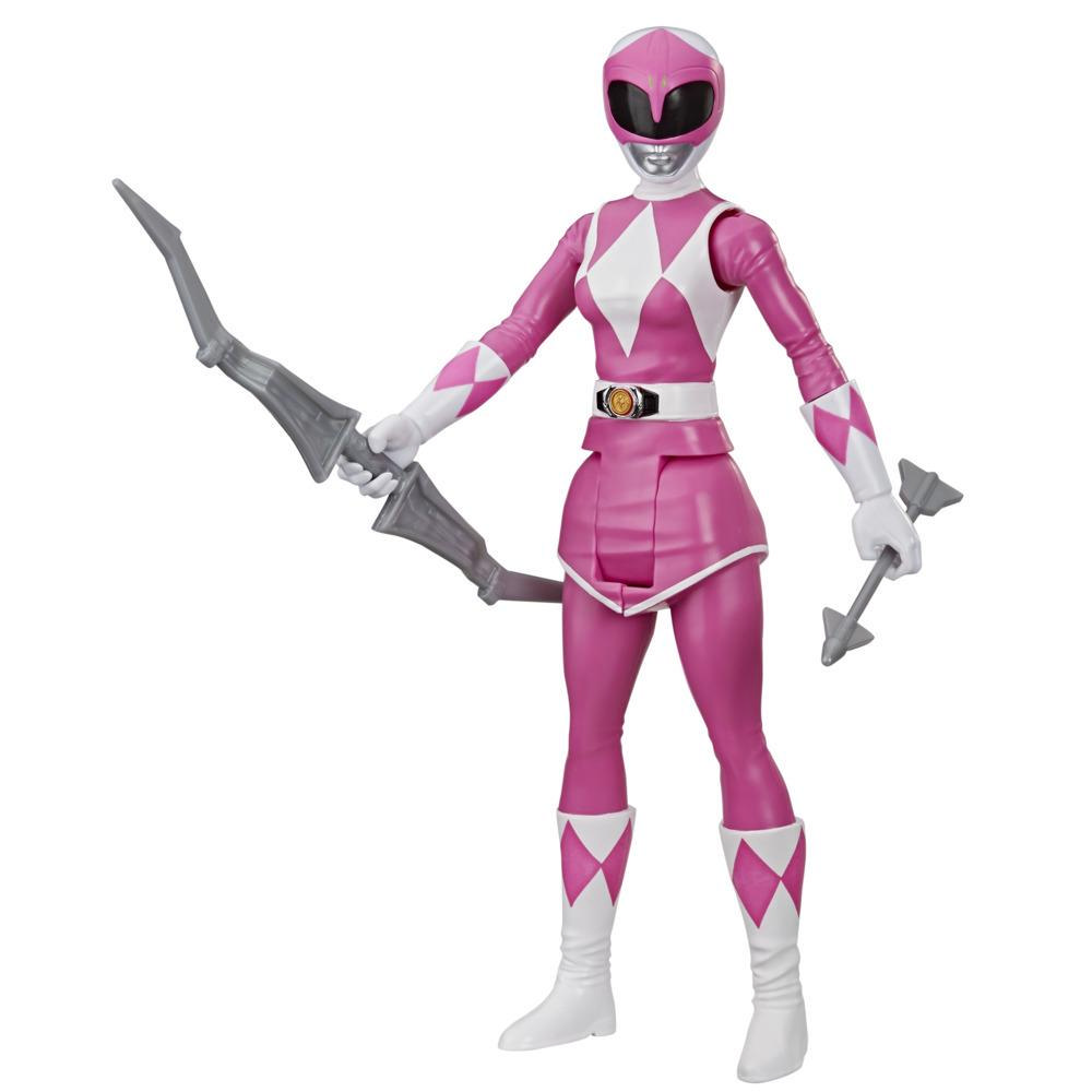 Power Rangers Mighty Morphin Pink Ranger 12-Inch Action Figure Toy Inspired by Classic Power Rangers TV Show