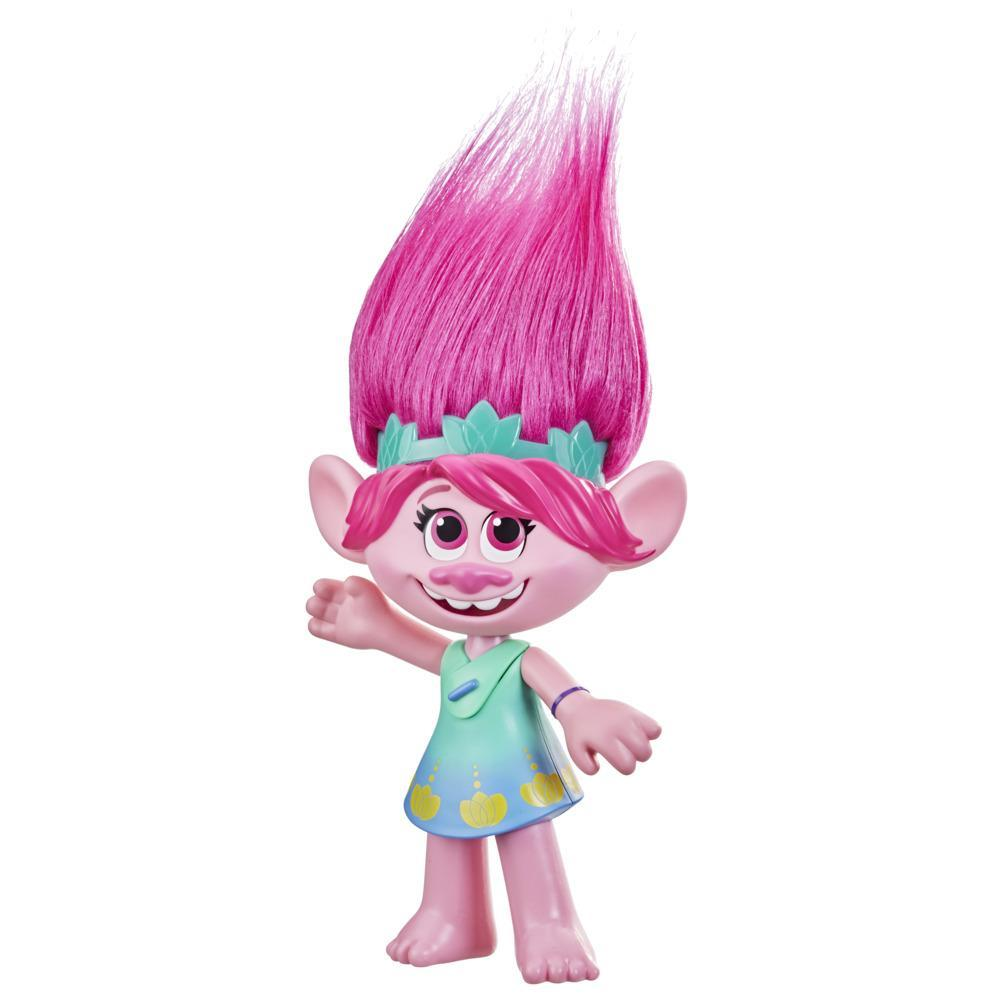 DreamWorks TrollsTopia Harmony Poppy Singing and Talking Doll, Musical Toy for Kids 4 Years Old and Up