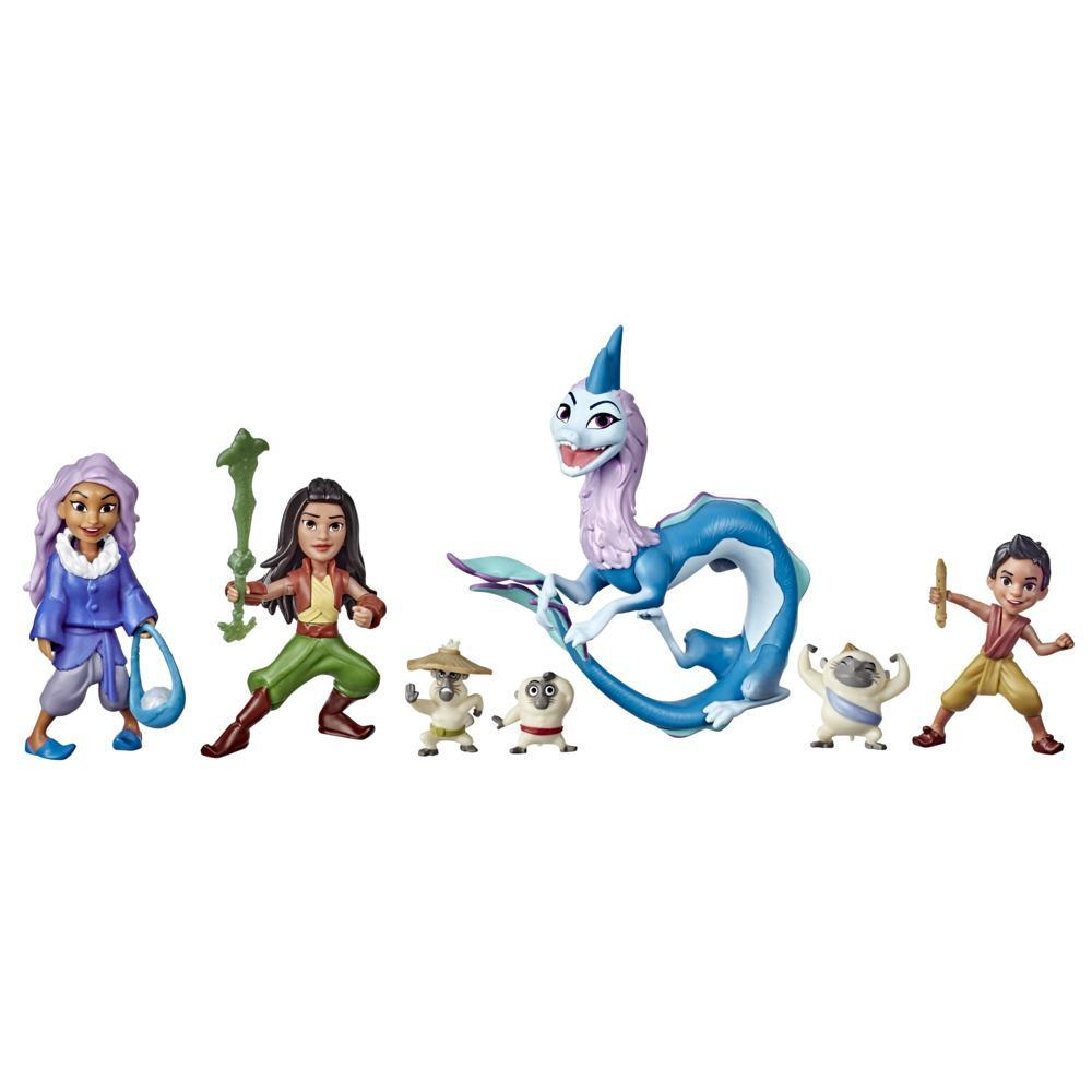 Disney's Raya and the Last Dragon Kumandra Story Set, 7 Dolls and Doll Accessories, Raya, Sisu, Ongis, Boun, and Sisu