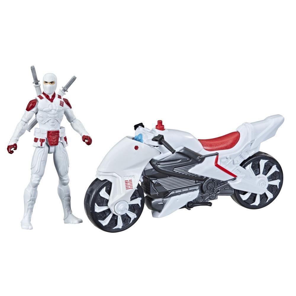 Snake Eyes: G.I. Joe Origins Storm Shadow with Stealth Cycle Figure and Vehicle with Ninja Spin Attack, Ages 4 and Up