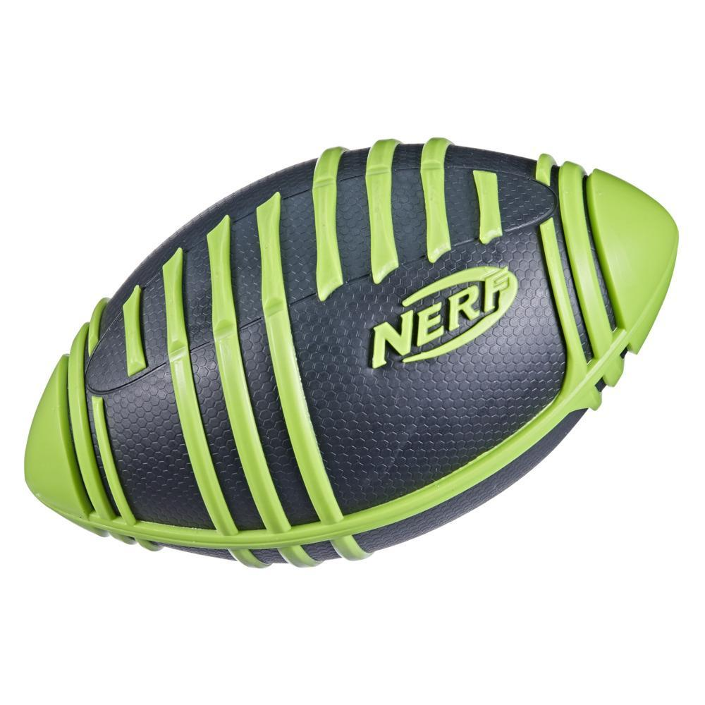 Nerf Weather Blitz Foam Football For All-Weather Play, Easy-To-Hold Grips, Great For Indoor and Outdoor Games -- Green