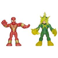 Playskool Heroes Marvel Super Hero Adventures Iron Spider-Man and Electro Figures