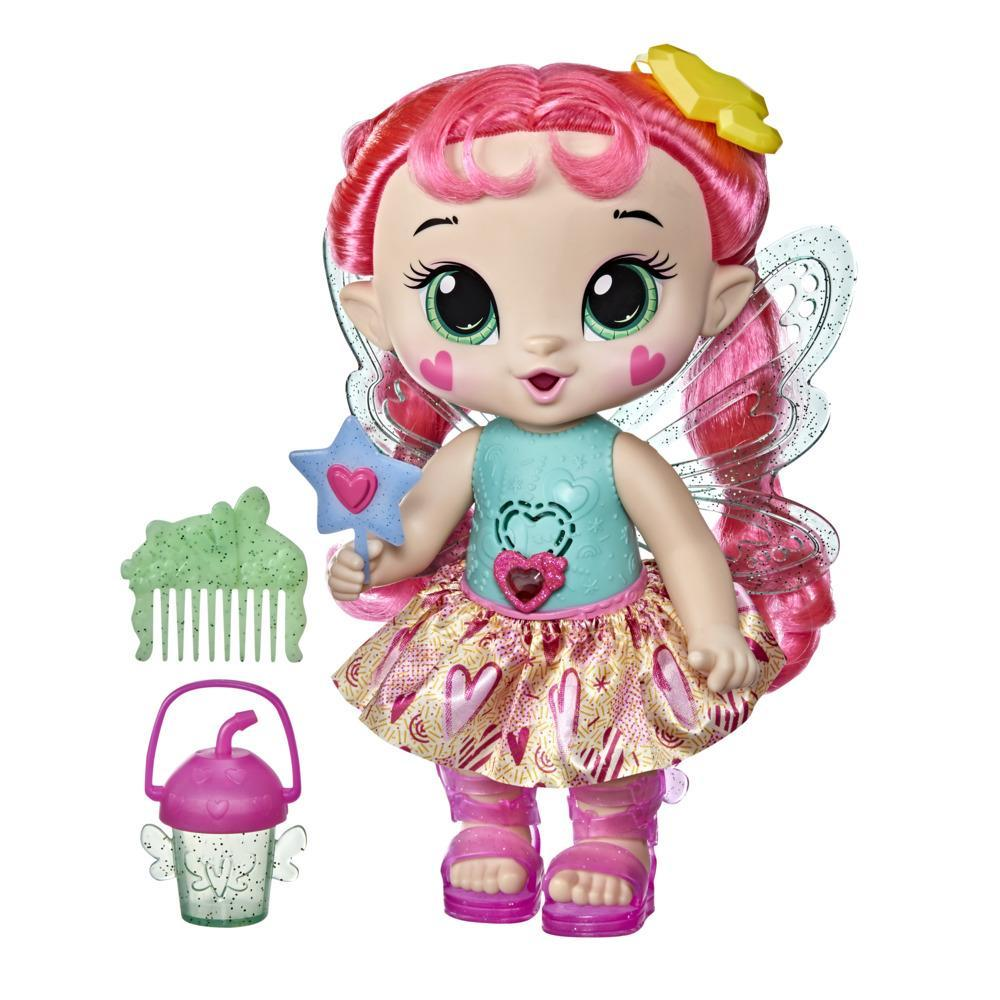 Baby Alive GloPixies Doll, Sammie Shimmer, Glowing Pixie Toy for Kids Ages 3 and Up, Interactive 10.5-inch Doll