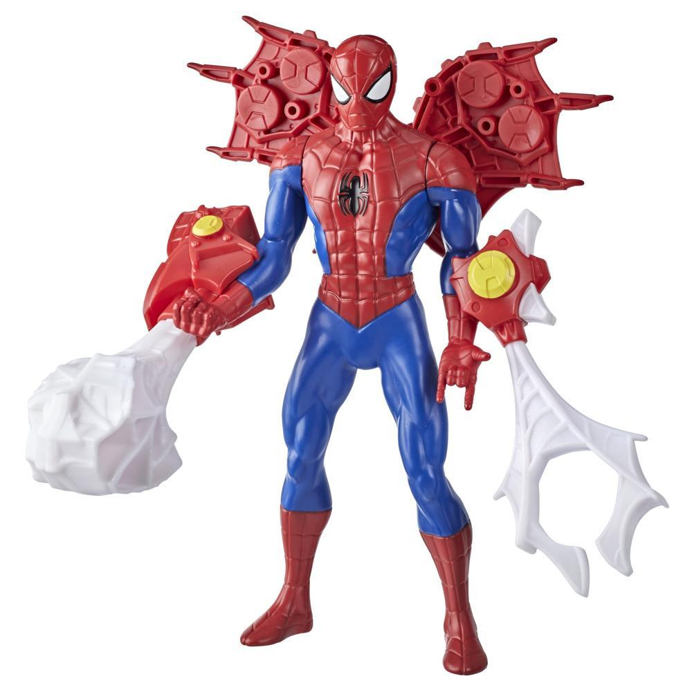 Hasbro Marvel 9.5-inch Scale Super Heroes and Villains Action Figure Toy Spider-Man And 3 Accessories, Kids Ages 4 and Up