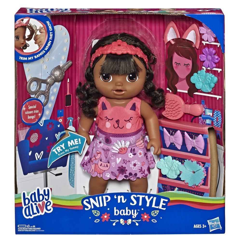 Baby Alive Snip 'n Style Baby Black Hair
