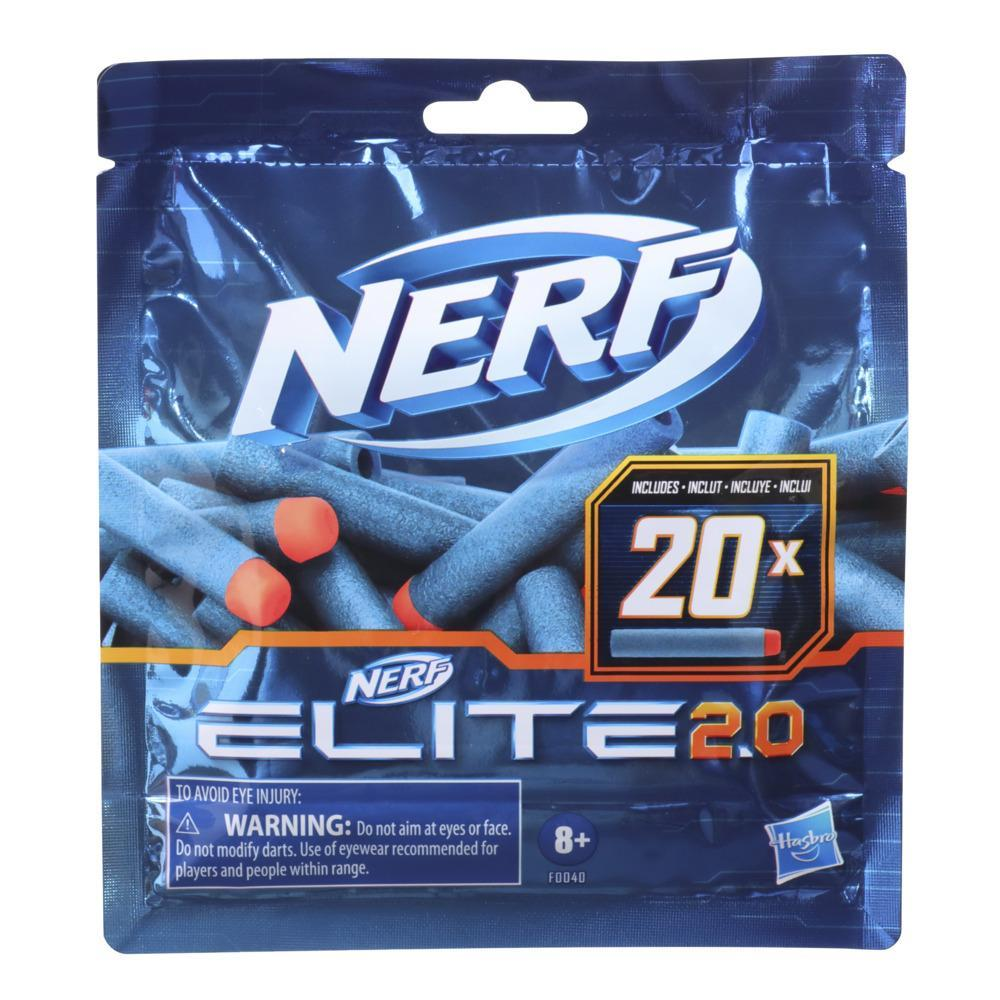 Nerf Elite 2.0 20-Dart Refill Pack -- Includes 20 Official Nerf Elite 2.0 Darts, Compatible With All Nerf Elite Blasters