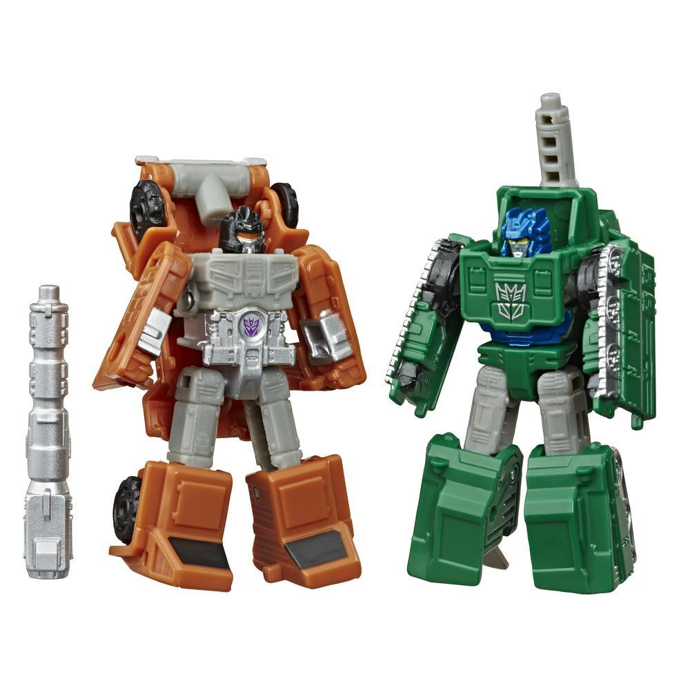 Transformers Toys Generations War for Cybertron: Earthrise Micromaster WFC-E4 Military Patrol 2-Pack, 1.5-inch