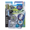 Beyblade Burst Turbo Slingshock Dual Pack Leopard L4 and Silver-X Jormuntor J4 – 2 Right-Spin Battling Tops, Age 8+
