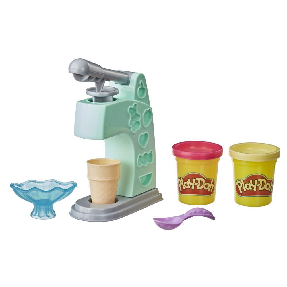 Play-Doh Mini Ice Cream Playset with 2 Non-Toxic Play-Doh Colors