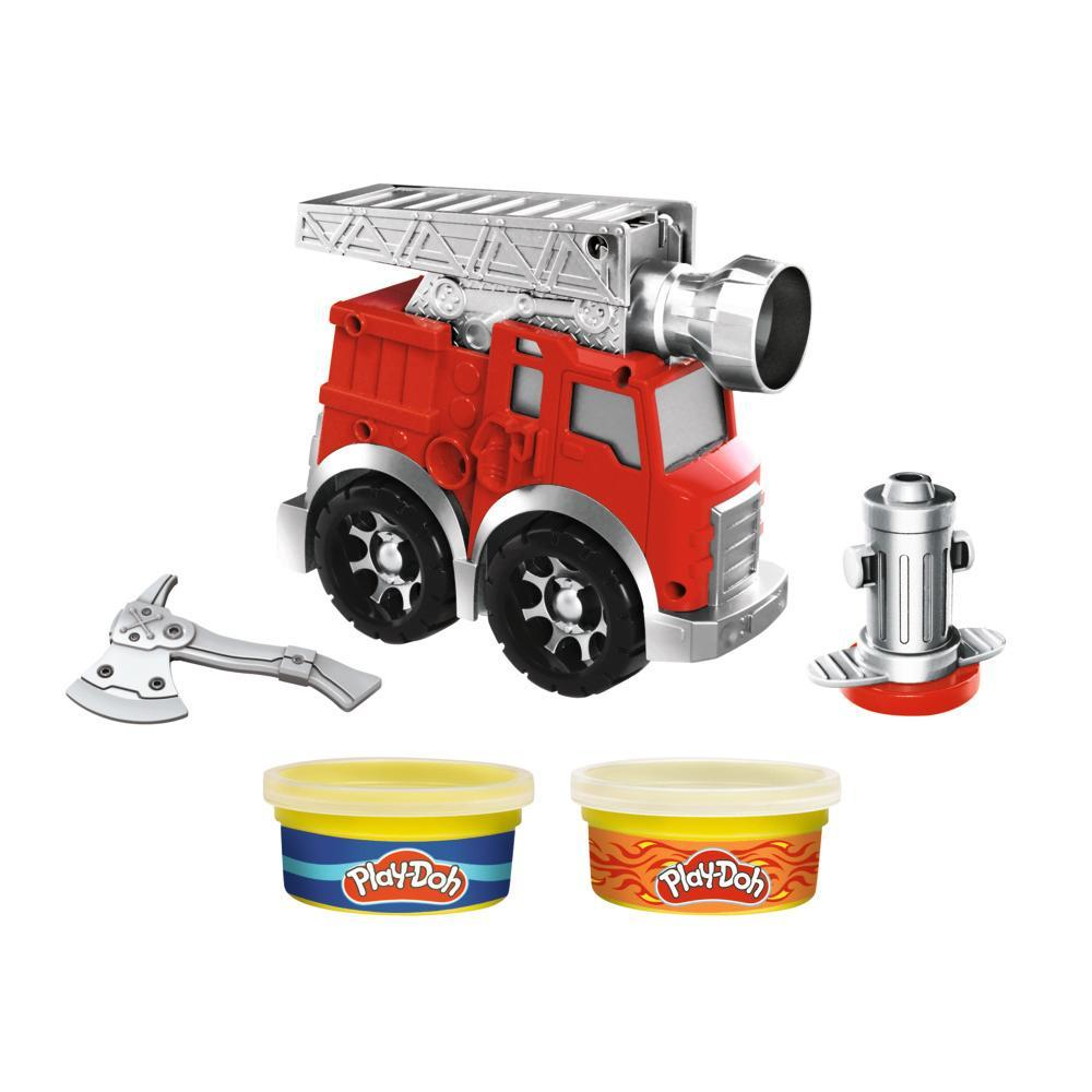 Play-Doh Wheels Fire Engine Playset for Kids 3 Years and Up with 2 Cans of Non-Toxic Modeling Compound