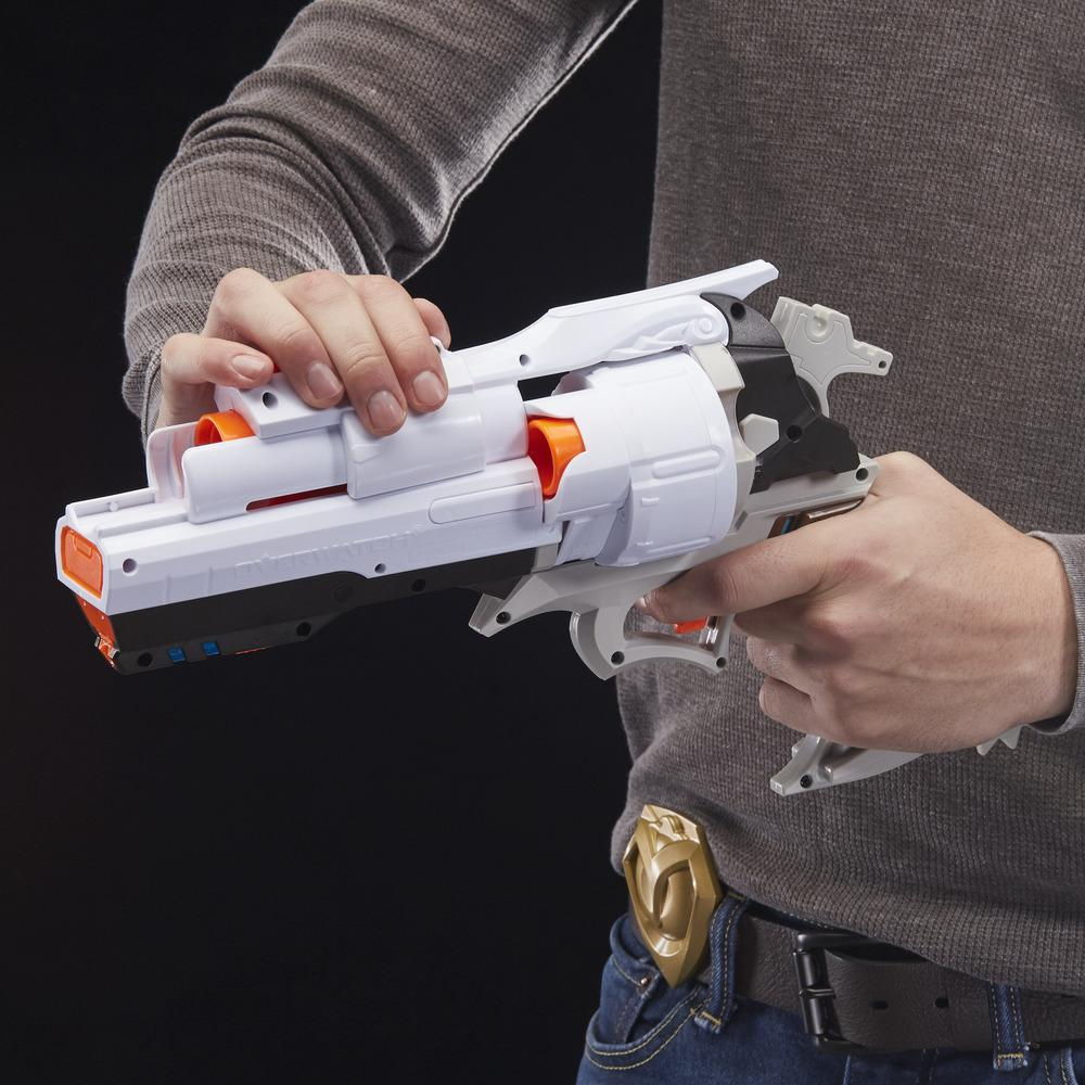 Overwatch McCree Nerf Rival Blaster with Die Cast Badge and 6 Overwatch Nerf Rival Rounds