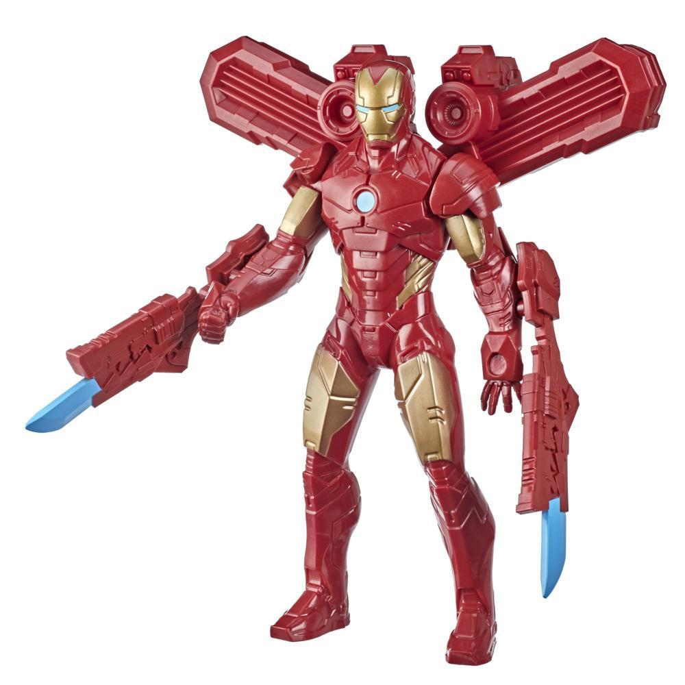 Hasbro Marvel 9.5-inch Scale Super Heroes and Villains Action Figure Toy Iron Man And 3 Accessories, Kids Ages 4 and Up