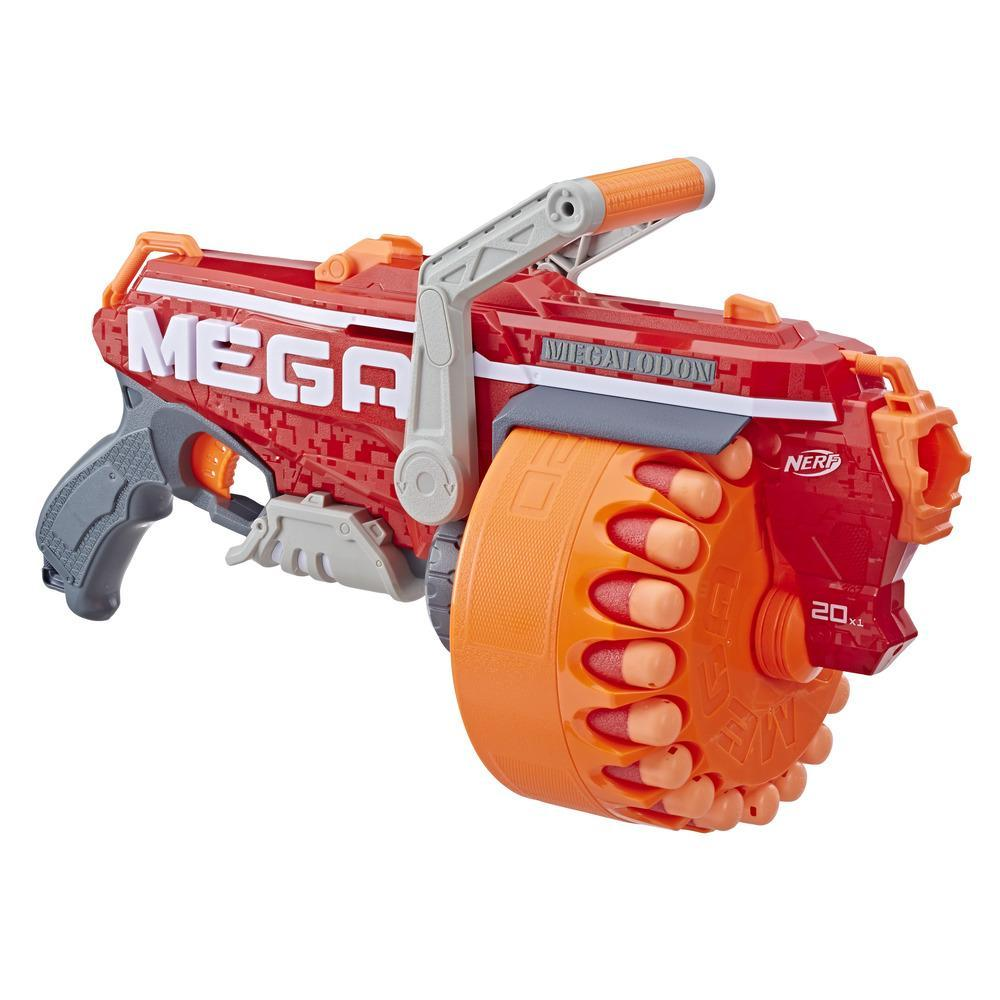 Megalodon Nerf N-Strike Mega Toy Blaster with 20 Official Nerf Mega Whistler Darts