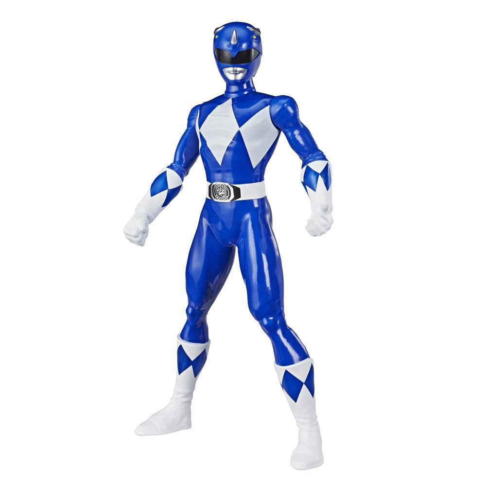 Power Rangers Mighty Morphin Blue Ranger Figure 9.5-inch Scale Action Figure Toy for Kids Ages 4 and Up