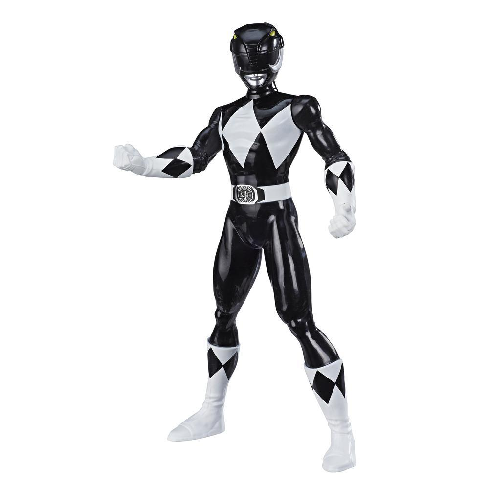 Power Rangers Mighty Morphin Black Ranger Figure 9.5-inch Scale Action Figure Toy for Kids Ages 4 and Up