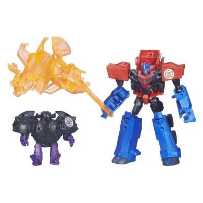 Transformers Robots in Disguise Decepticon Hunter Optimus Prime vs Decepticon Bludgeon Pack