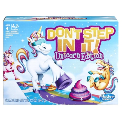 Don't Step In It Kids Game Ages 4+ Unicorn Rainbow Clay