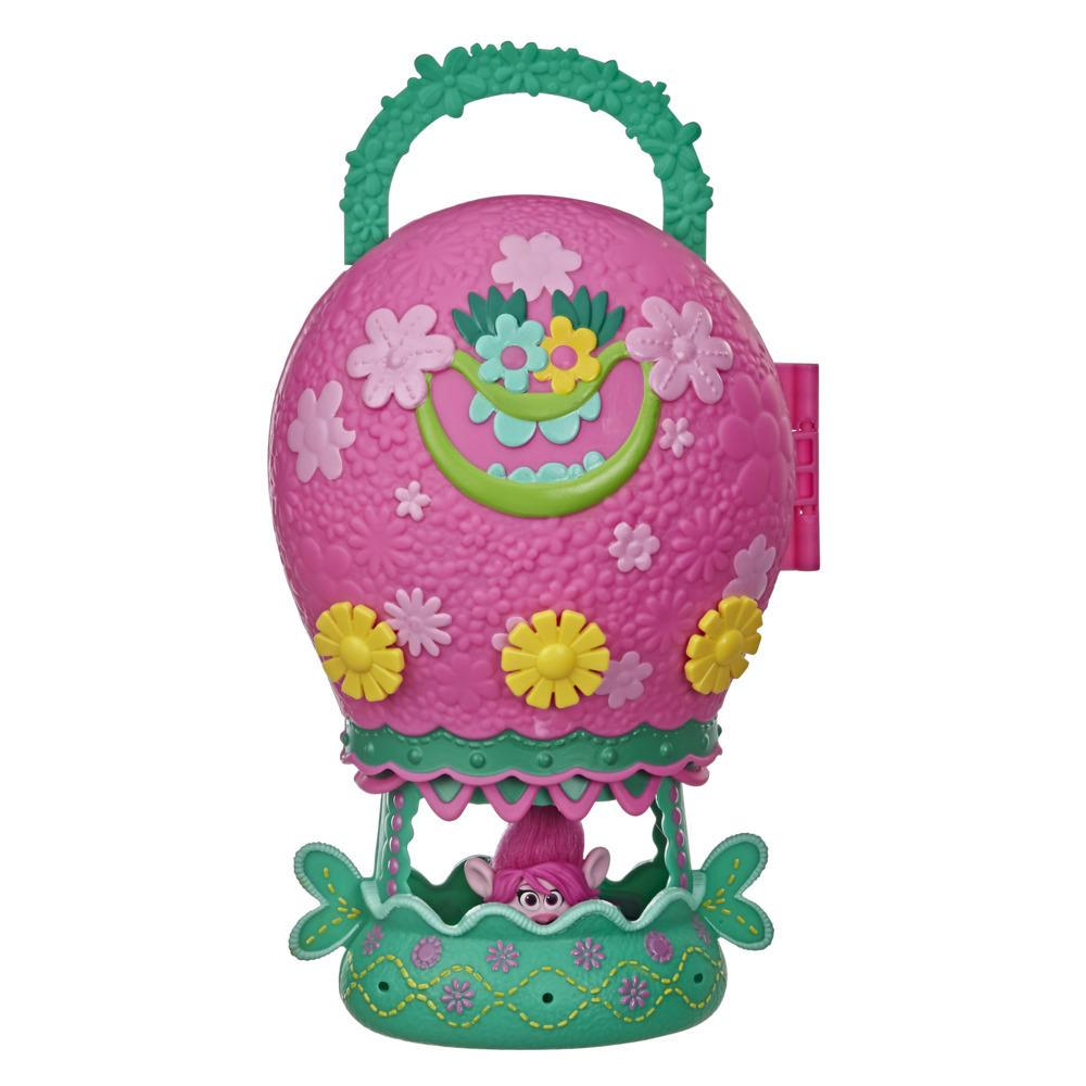 DreamWorks Trolls World Tour Tour Balloon, Toy Playset with Poppy Doll, with Storage and Handle for On-the-Go Play