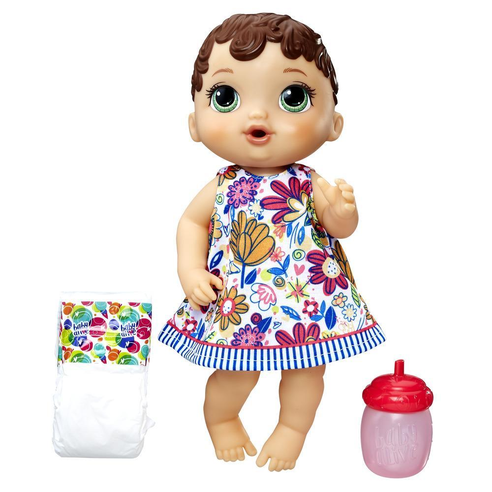 Baby Alive Lil' Sips Baby - Brown Sculpted Hair
