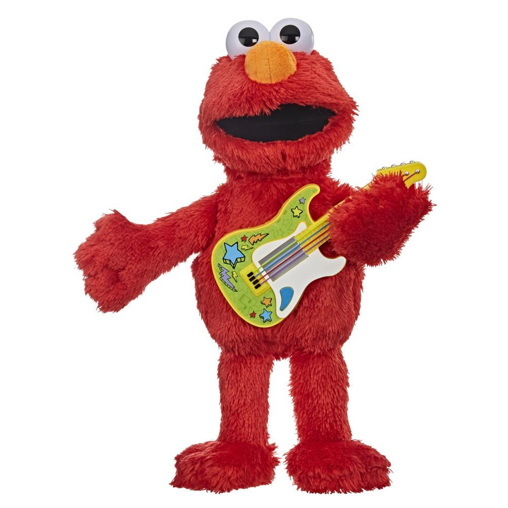 Sesame Street Rock and Rhyme Elmo Talking, Singing 14-Inch Plush Toy for Toddlers, Kids 18 Months & Up