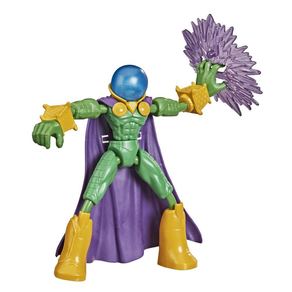 Marvel Spider-Man Bend and Flex Marvel's Mysterio Action Figure, 6-Inch Flexible Toy, Includes Accessory, Ages 4 And Up