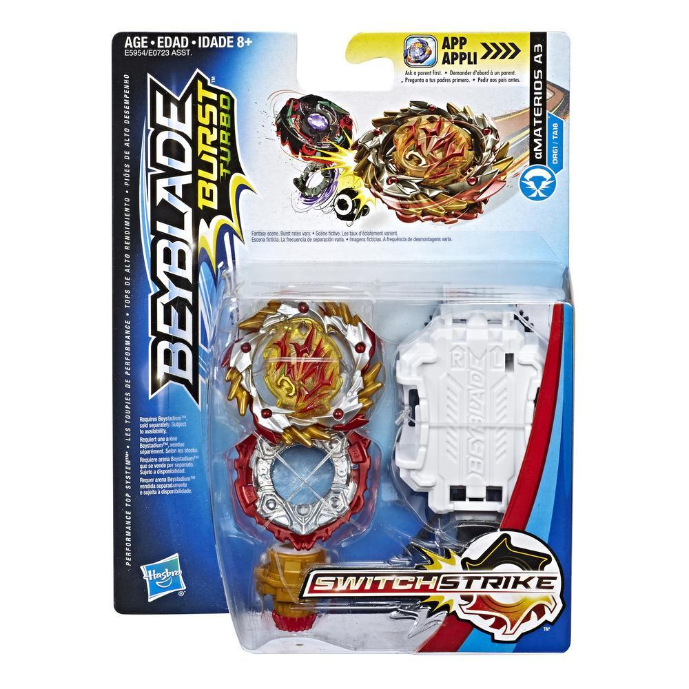 Beyblade Burst Turbo SwitchStrike Amaterios A3 Starter Pack – Battling Top and Right/Left-Spin Launcher, Age 8+