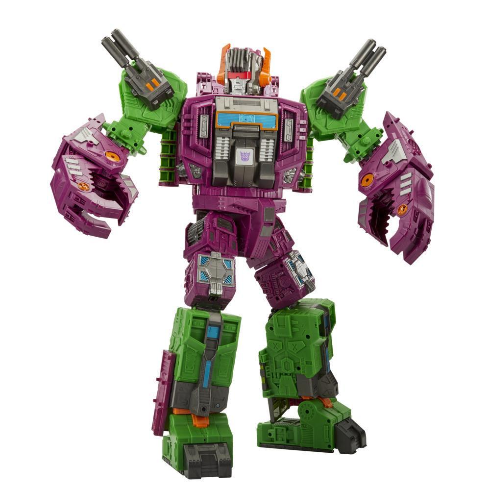 Transformers Toys Generations War for Cybertron: Earthrise Titan WFC-E25 Scorponok Triple Changer, 21-inch