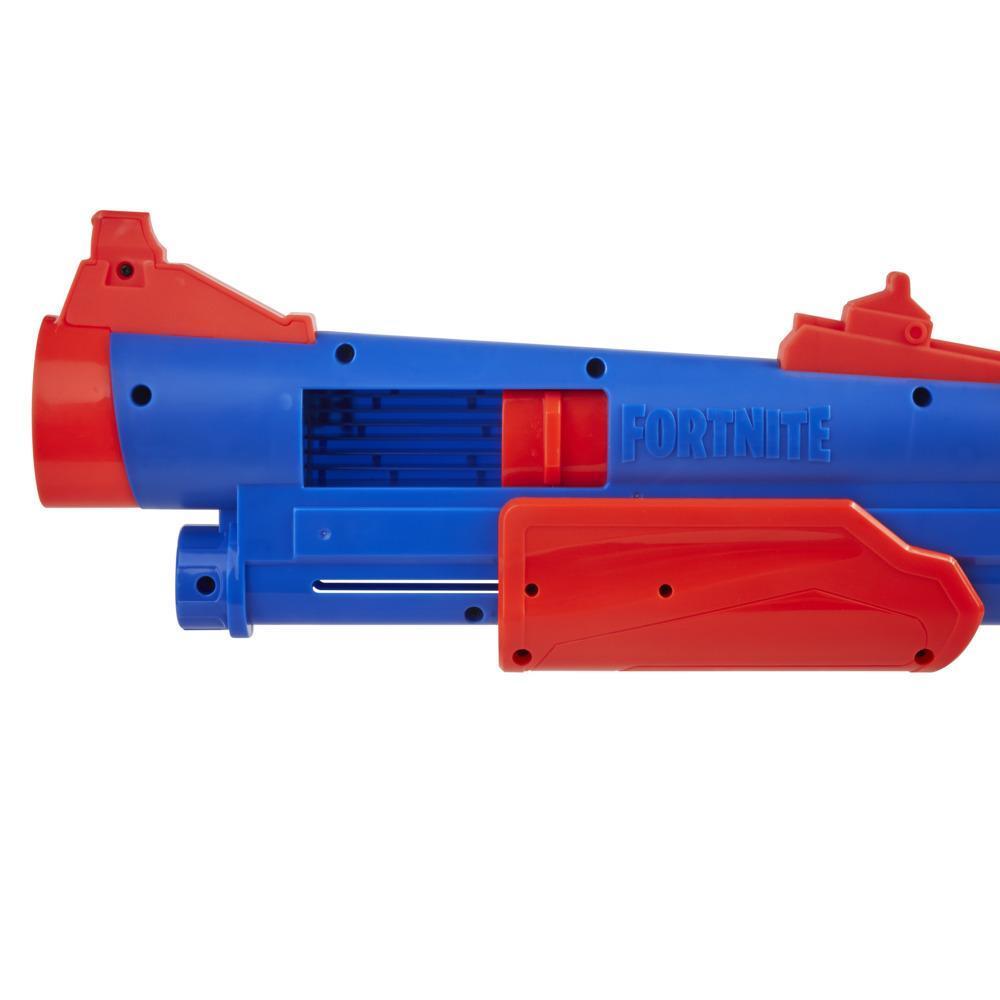 Nerf Fortnite Pump SG Blaster, Pump Action Mega Dart Blasting, Breech Load, 4 Nerf Mega Darts, For Youth, Teens, Adults