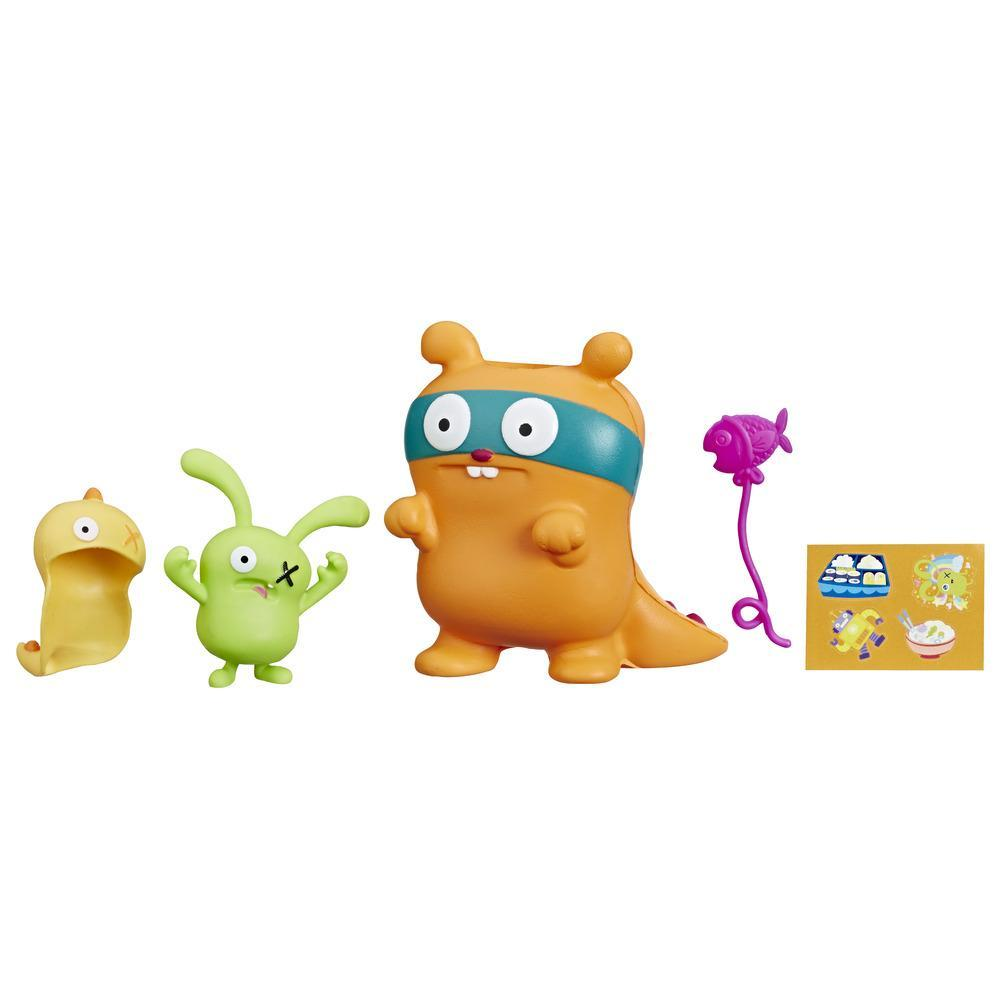 UglyDolls Ox and Squish-and-Go Kaiju, 2 Toy Figures with Accessories, Inspired by UglyDolls Movie
