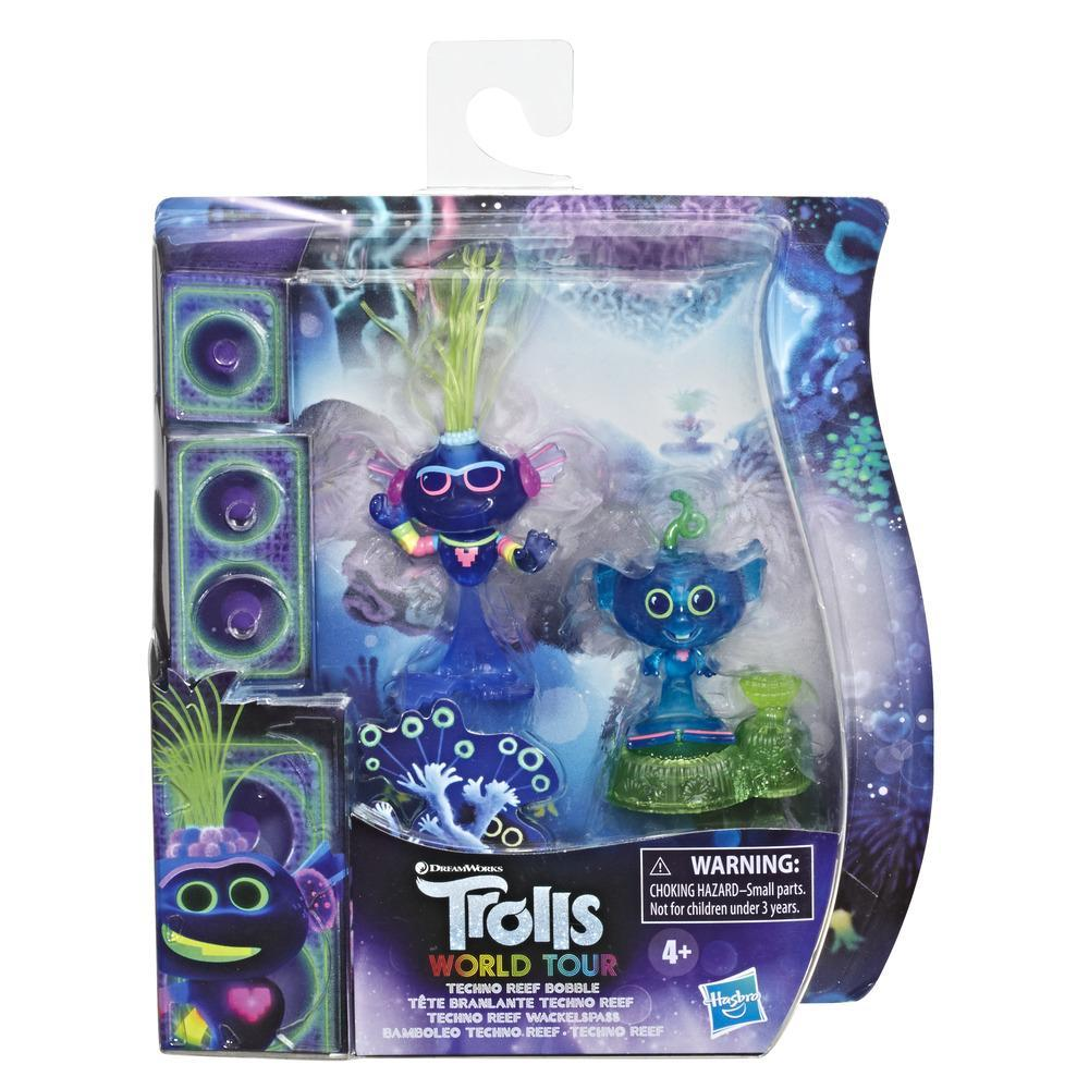 DreamWorks Trolls World Tour Techno Reef Bobble with 2 Figures, 1 with Bobble Action Plus Base