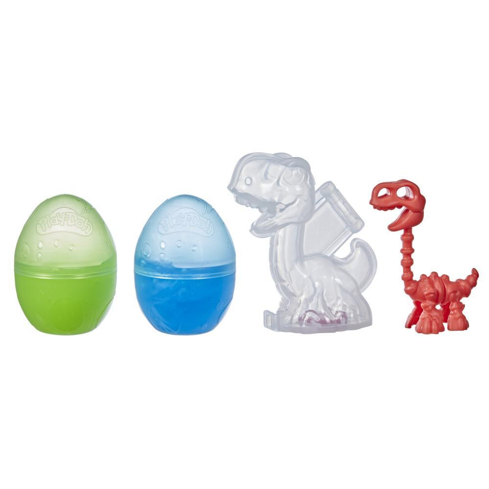 Play-Doh Slime Dino Crew Eggs and Dinosaur Bones Brontosaurus Toy with HydroGlitz Compound, Non-Toxic