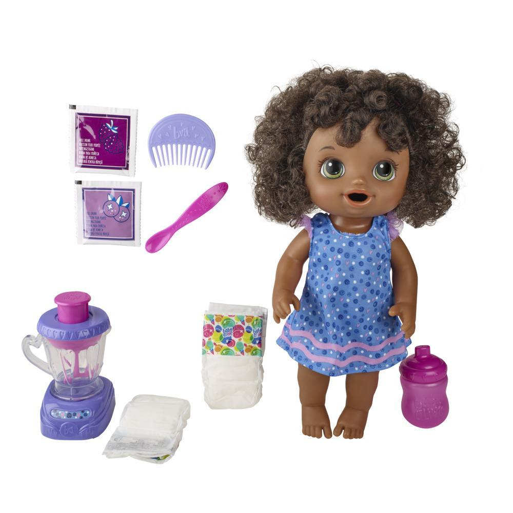 Baby Alive Magical Mixer Baby Doll Blueberry Blast, Blender, Accessories, Drinks, Wets, Eats, Toy for Kids Ages 3 and Up