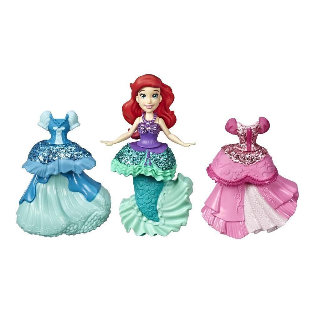 Disney Princess Ariel Collectible Doll With 3 Glittery One-Clip Dresses, Royal Clips Fashion Toy for 3 year olds and up