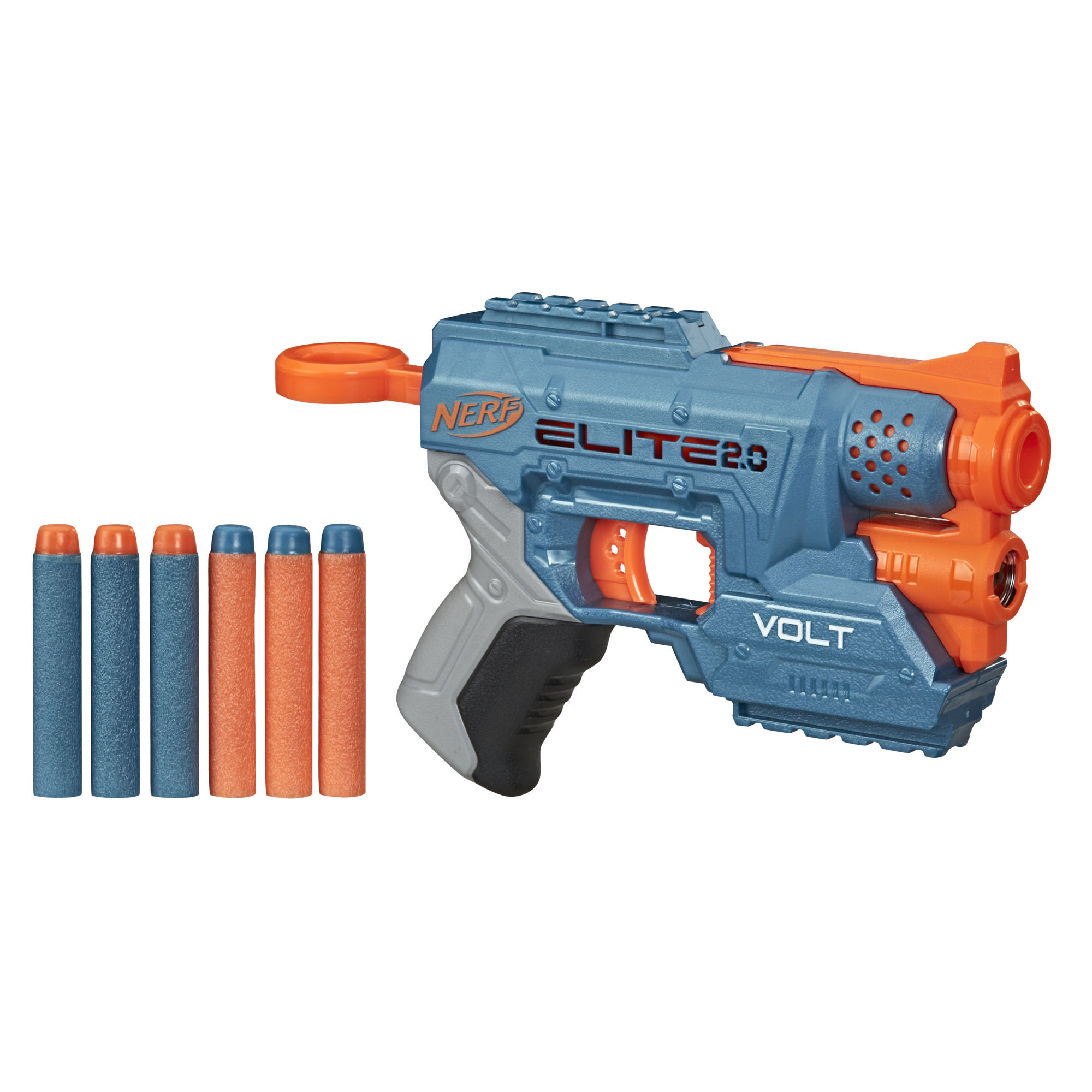 Nerf Elite 2.0 Volt SD-1 Blaster -- 6 Official Nerf Darts, Light Beam Targeting, 2-Dart Storage, 2 Tactical Rails